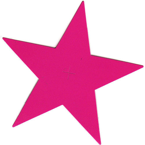 Paper Star Tag - Hot Pink