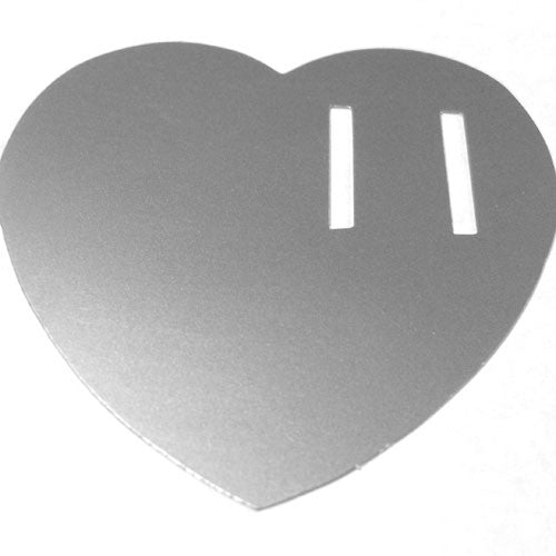 50 Paper Heart Tag - Silver ($0.36/pc) (RRP $18.14)