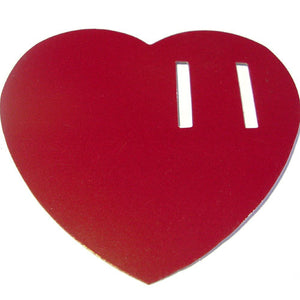 50 Paper Heart Tag - Red ($0.36/pc) (RRP $18.14)