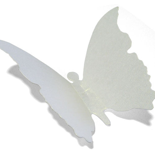 50 Paper Butterfly Tag - White ($0.42/pc) (RRP $20.86)