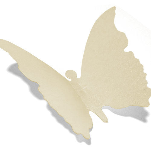 Paper Butterfly Tag - Cream