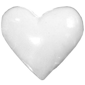 Poly Heart C-7370-25pcs White (RRP $3.18)