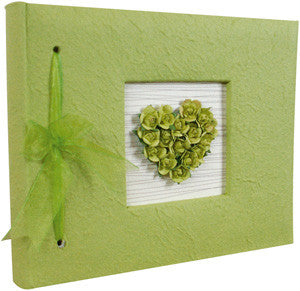 Floral Heart Guestbook - Green 2790-010-S