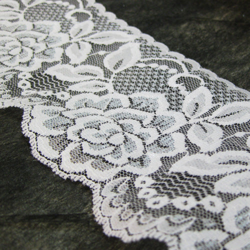 White Raschel Lace 30M-80MM