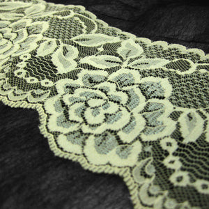 Cream Raschel Lace Trim-30M-80MM