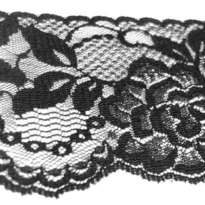 Black Raschel Lace Trim-30M-80MM