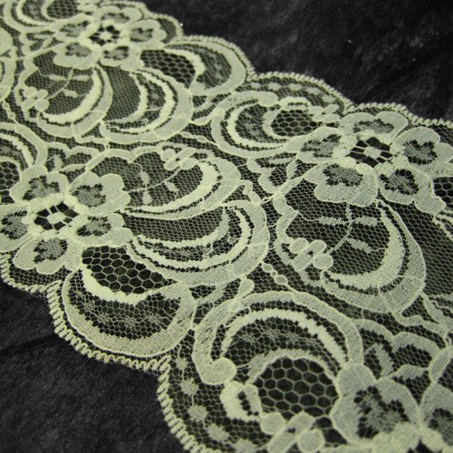 Cream Raschel Lace Trim-20M-95MM