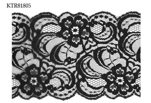 Black Raschel Lace Trim-20M-95MM