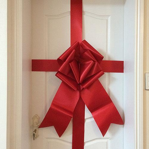 Giant Door Bow (Pack of 10)-Red