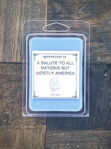 A Salute To All Nations But Mostly America wax melt