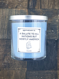 A Salute To All Nations But Mostly America 9 oz. sing wick candle