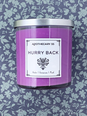 Hurry Back 9 oz. single wick candle