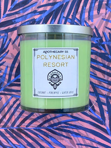 Polynesian Resort 9 oz. single wick candle