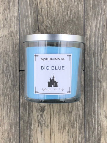 Big Blue 9 oz. single wick candle