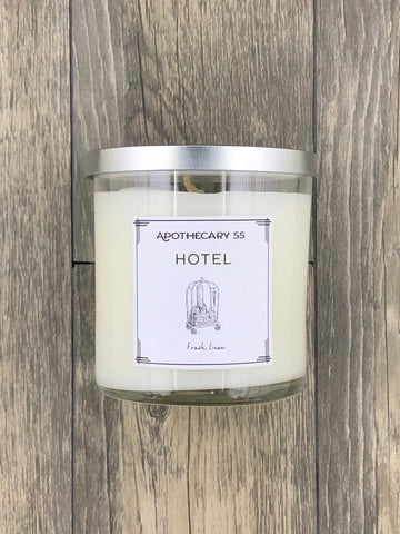 Hotel 9 oz. single-wick candle
