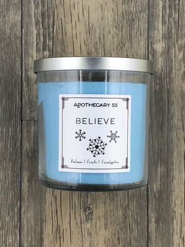 Believe 9 oz. single wick candle