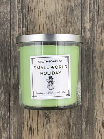 Small World Holiday 9 oz. single wick candle