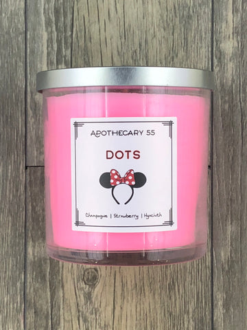 Dots 9 oz single wick candle