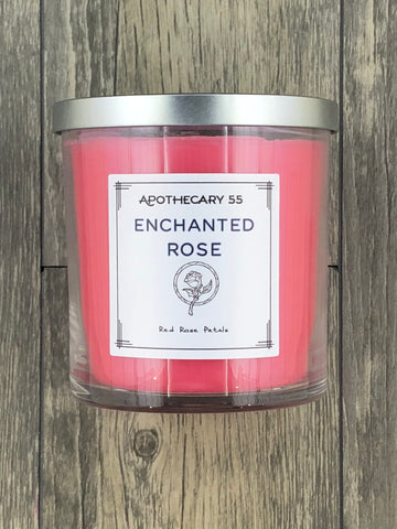 Enchanted Rose 9 oz. single-wick candle