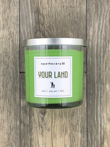 Your Land 9 oz. single wick candle