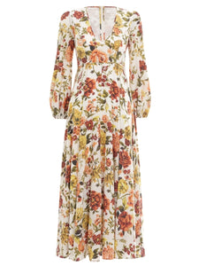 ZIPPY PLUNGE LONG DRESS