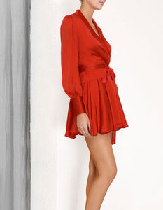 | SCARLET WRAP DRESS SHORT