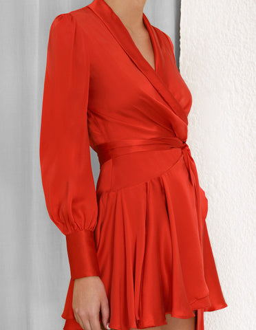 SCARLET WRAP DRESS SHORT