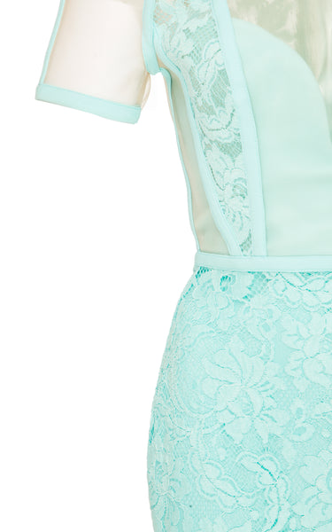 ALDRICH LACE CRINOLINE RAGLAN LADY DRESS – AQUA (FOR SALE)