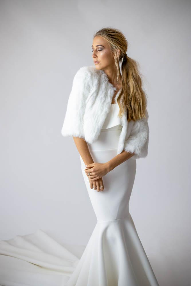Laci Bride Jacket in Snow - Mode & Affaire