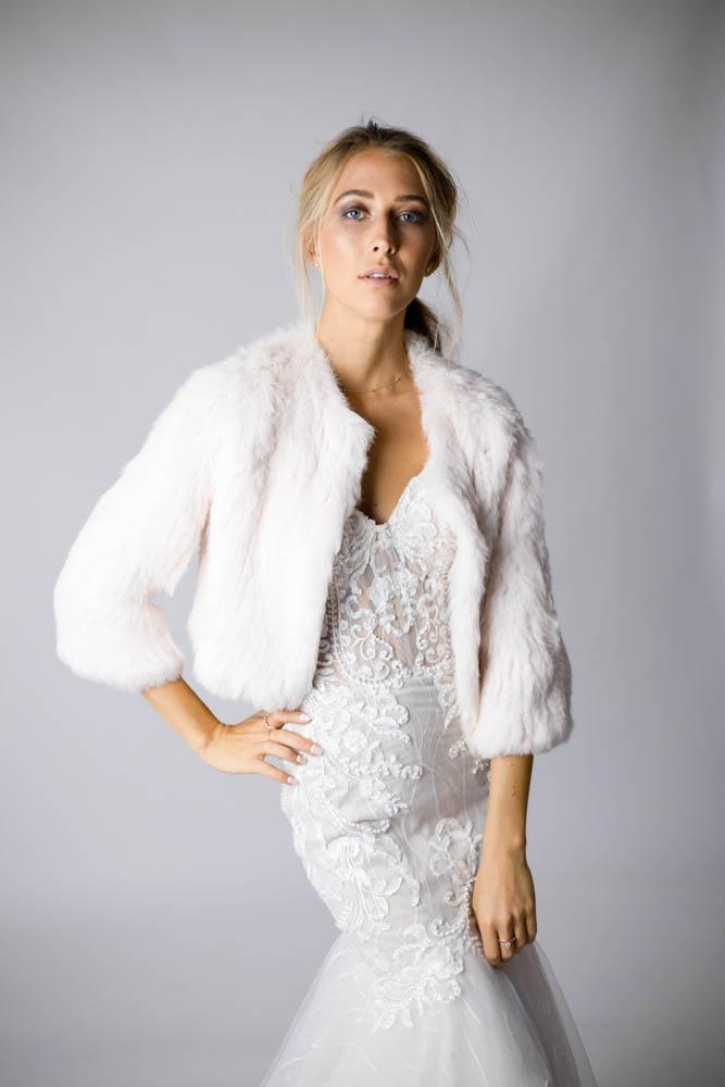 Laci Pink Fur Jacket in Blush - Mode & Affaire