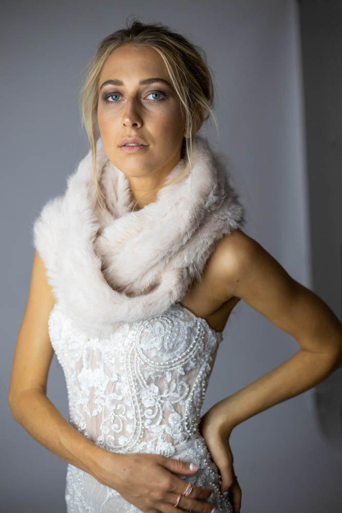 Infiniti Long Scarf in Blush - Mode & Affaire
