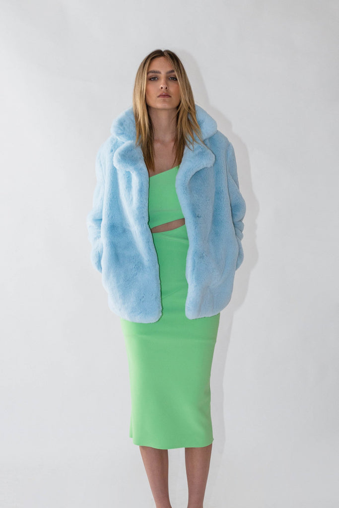 Astrid Faux Jacket in Ice - Mode & Affaire