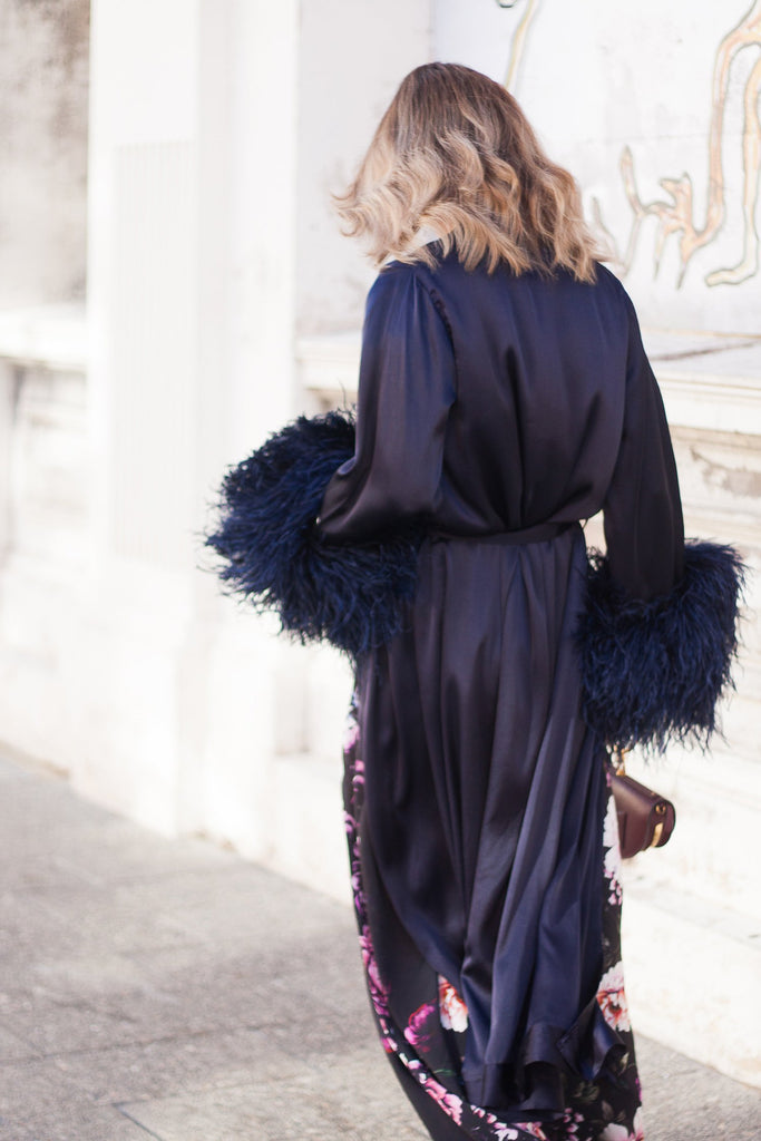 Peggy Robe in French Navy - Mode & Affaire