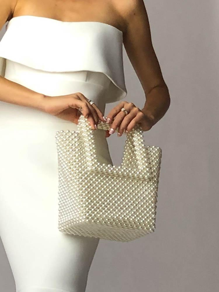 Pearl Beaded Bag - Mode & Affaire