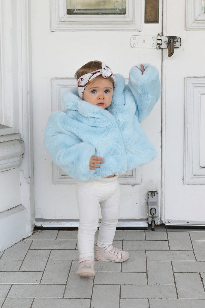 Mini Astrid Faux Coat in Ice - Mode & Affaire