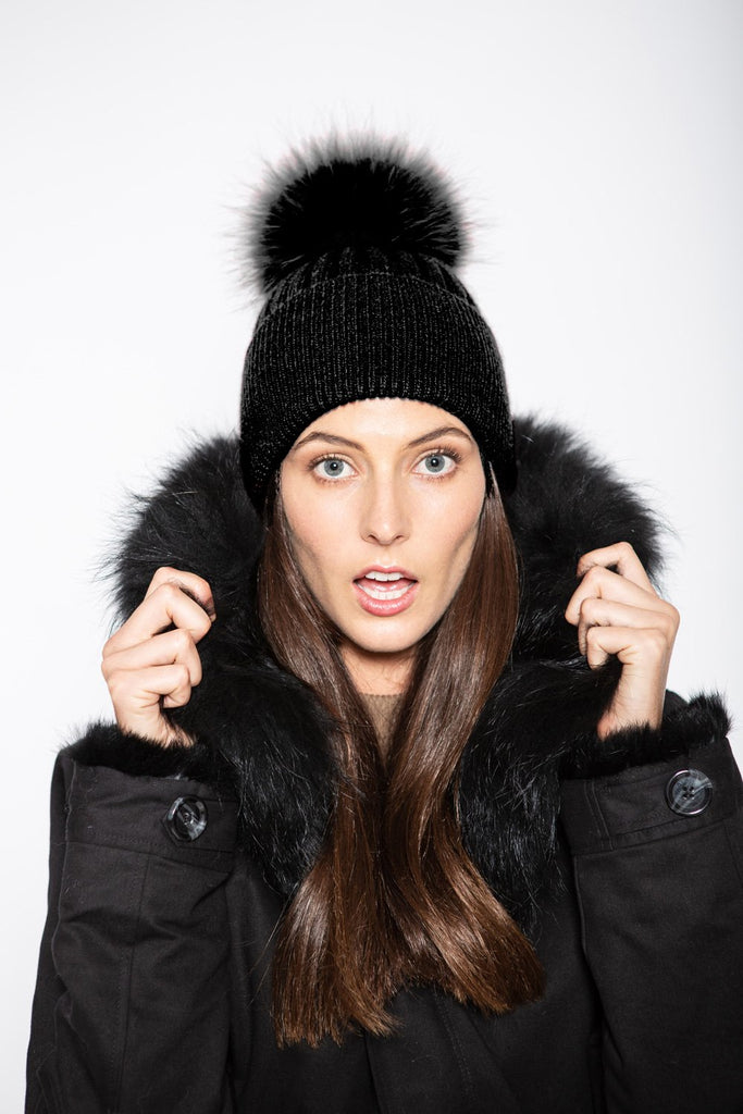 Angora Beanie Onyx - Mode & Affaire