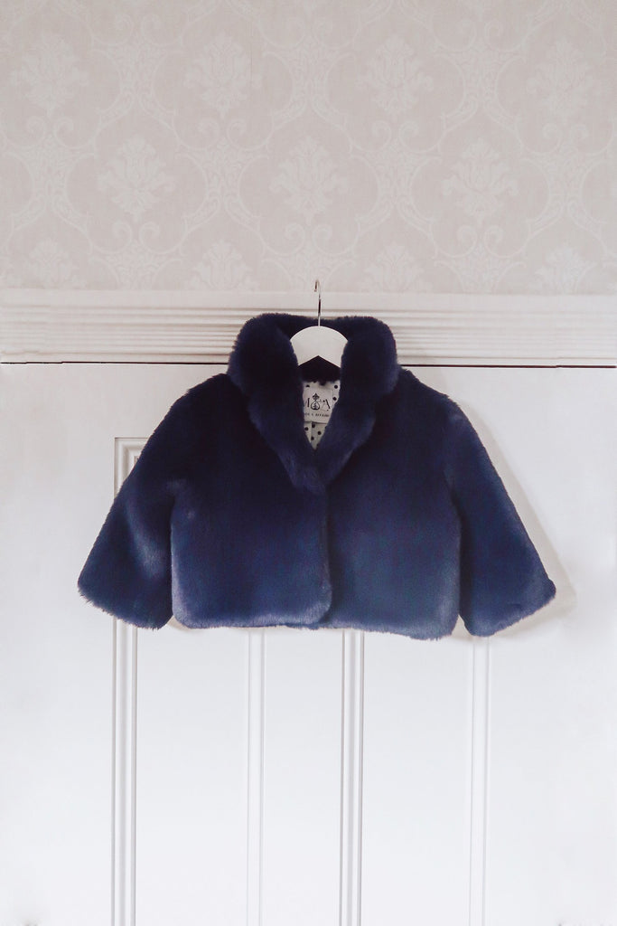 Mini Astrid Faux Coat in Midnight - Mode & Affaire
