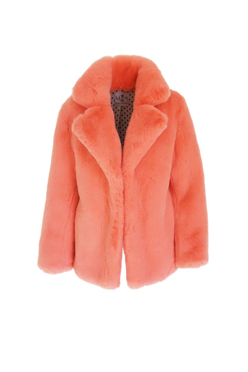 Astrid Faux Jacket in Peaches - Mode & Affaire