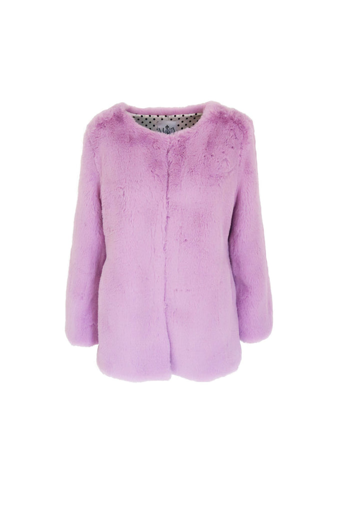 Cleo Faux Jacket in Amethyst - Mode & Affaire