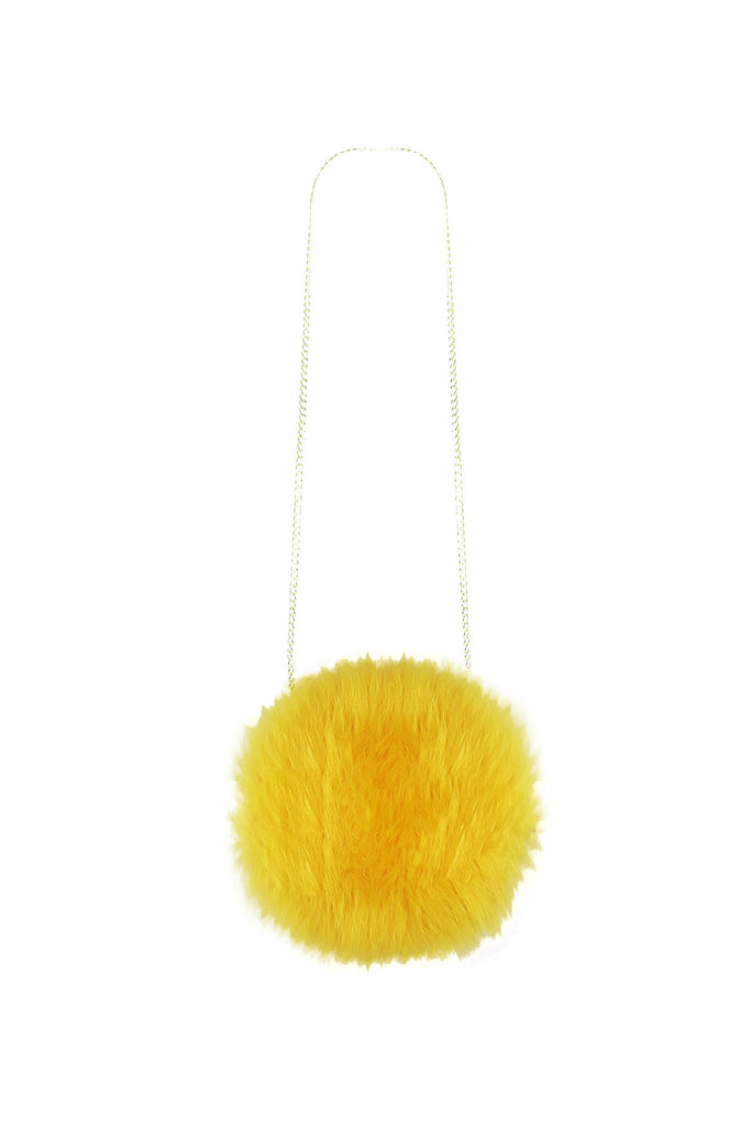 Fluffy Circle Bag in Daffodil - Mode & Affaire