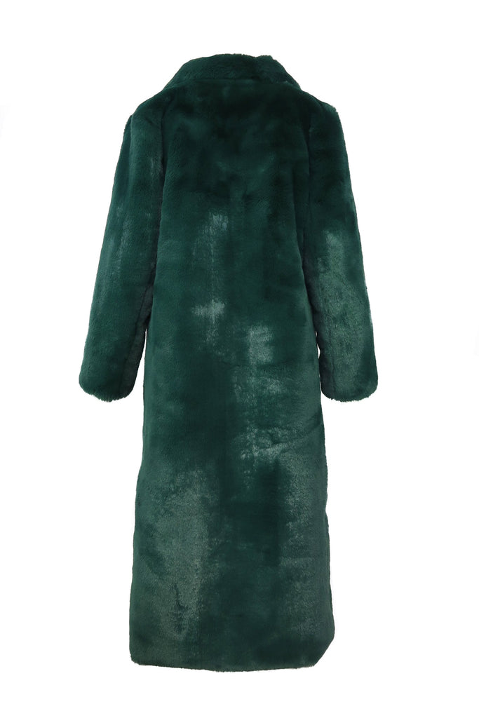 With Envy Faux Coat in Emerald - Mode & Affaire