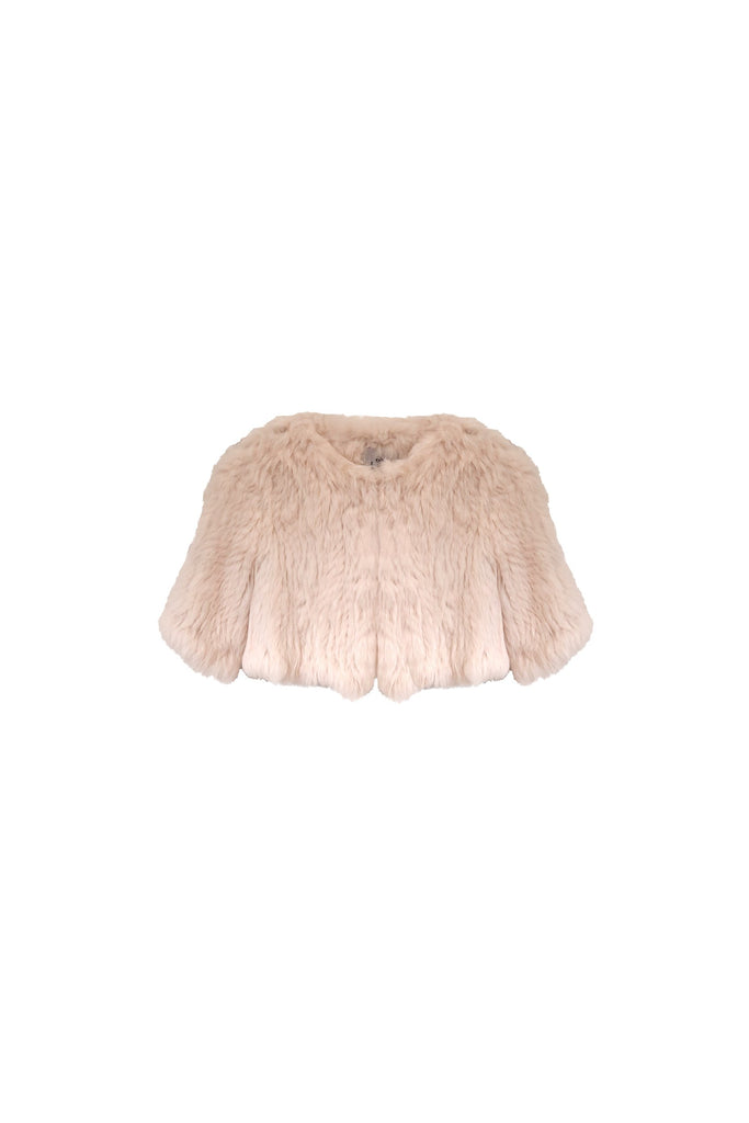 Kids Laci Fur Jacket in Blush - Mode & Affaire