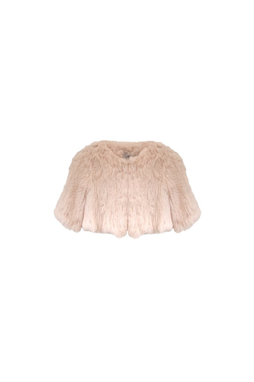 Laci Kids Fur Jacket in Blush
