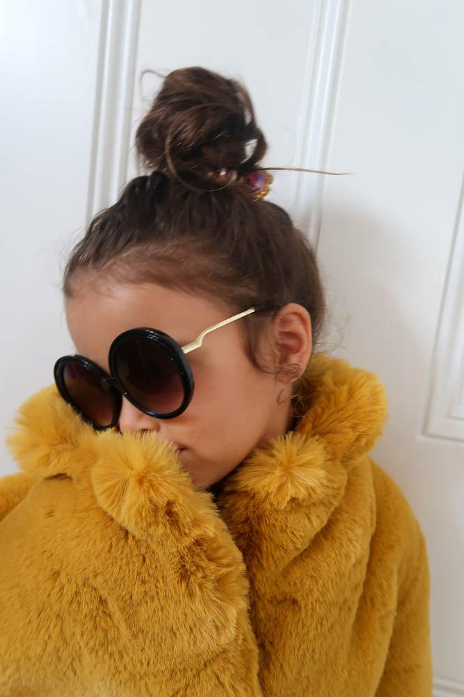 Kids Goldie Sunglasses in Black - Mode & Affaire