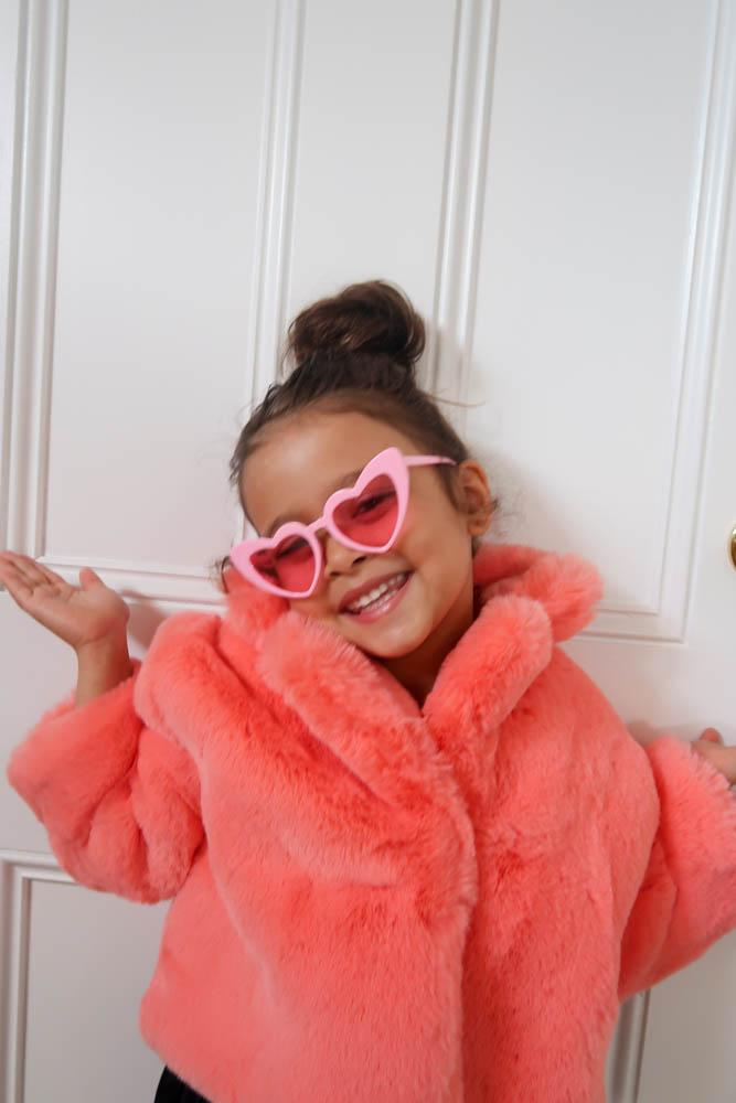 Kids Pink Lemonade Heart Sunglasses - Mode & Affaire