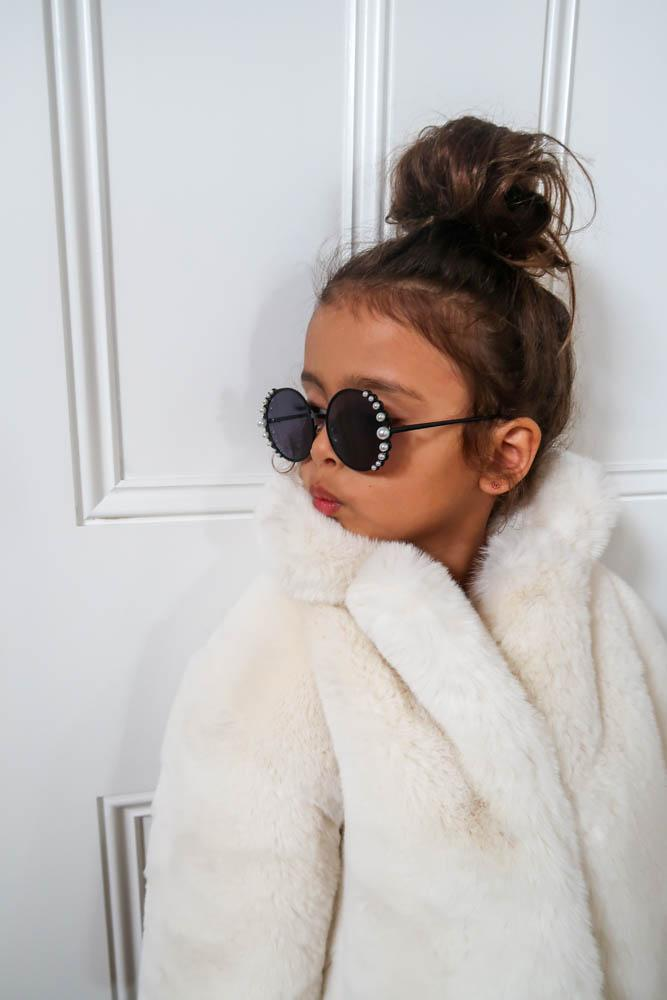 Kids Lola Sunglasses with Pearls - Mode & Affaire