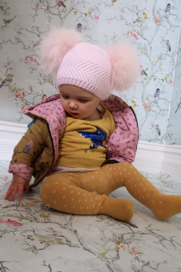 Baby Beanie Double Pom Peony - Mode & Affaire