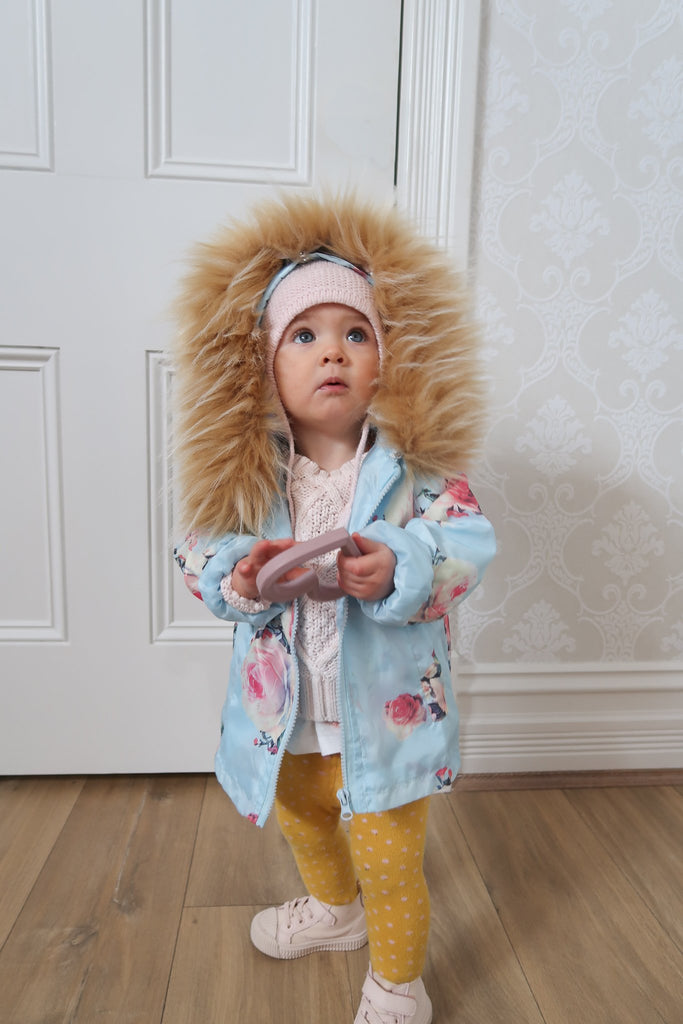 Kids Spray Jacket in Icey Bloom - Mode & Affaire