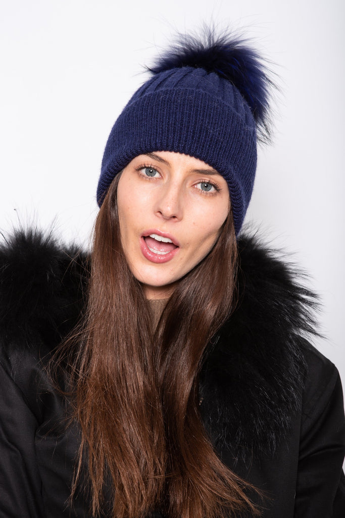 Angora Beanie Midnight - Mode & Affaire