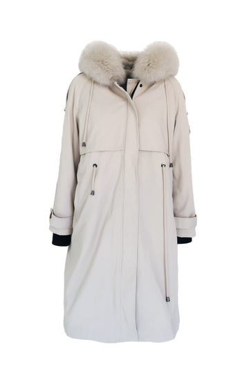Maxwell Long Parka in Stone - Mode & Affaire